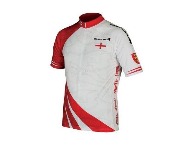Endura CoolMax® Printed England Flag Short Sleeved Jersey click to zoom image