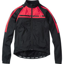 Madison Sportive men's convertible softshell jacket, black / flame red