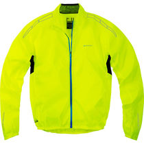 Madison Pac-it men's showerproof jacket, hi-viz yellow