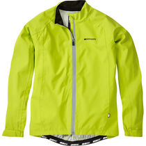 Madison Sportive Hi-Viz youth waterproof jacket, lime green