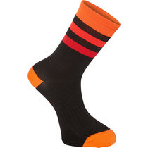 Madison RoadRace Premio extra long sock, hoops black/chilli red