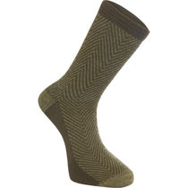 Madison Assynt merino long sock, herringbone olive