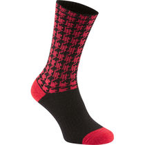 Madison Isoler Merino deep winter sock, chilli red houndstooth