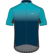 Madison Sportive men's short sleeve jersey, ink navy / blue curaco