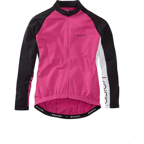 Madison Keirin women's long sleeve thermal jersey, very berry click to zoom image