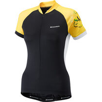Madison Keirin women's short sleeve jersey, black / vibrant yellow