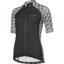 Madison Sportive women's short sleeve jersey, black geo camo