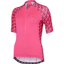 Madison Sportive women's short sleeve jersey, pink glo geo camo