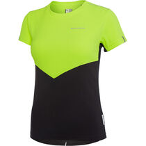 Madison Stellar women's short sleeve jersey, hi-viz yellow / phantom
