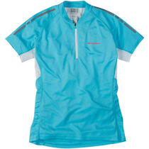 Madison Stellar women's short sleeved jersey, blue fish