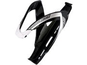 Elite Custom Race Resin Bottle Cage  Black/White  click to zoom image