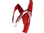 Elite Custom Race Resin Bottle Cage  Red/White  click to zoom image