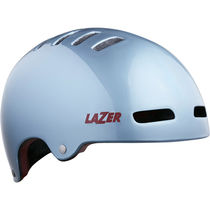 Lazer Armor LED Helmet, Silver/Red