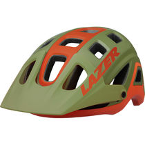 Lazer Impala Helmet, Matt Khaki/Orange