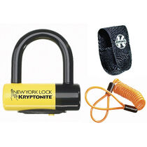Kryptonite New York Liberty disc lock - with reminder cable - yellow