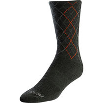 Pearl Izumi Unisex Merino Talll Socks, Forest/Flame Crossing