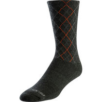 Pearl Izumi Unisex Merino Wool Thermal Socks, Forest/Flame Crossing