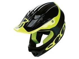 Scott Spartan Full Face Downhill BMX Helmet-Black/Yellow