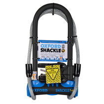 Oxford Products Shackle 14 DUO U-Lock (320mm) Blue