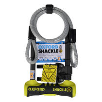 Oxford Products Shackle 14 Duo U-Lock 320 x 177mm - Yellow