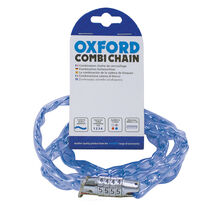 Oxford Products Combi Chain Combination Lock 36' - Blue