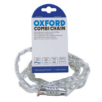 Oxford Products Combi Chain Combination Lock 36' - Clear