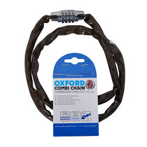 Oxford Products Combi Chain Combination Lock 36' - Smoke